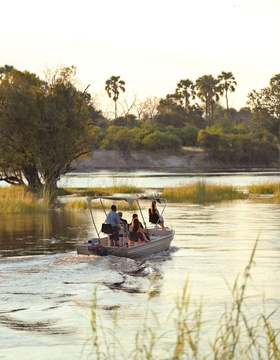 Spend time on the river fishing or simply cruising around