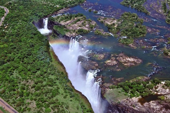 Stay near Victoria Falls and experience its majesty