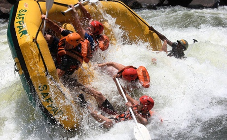 White water rafting for the adrenaline seekers