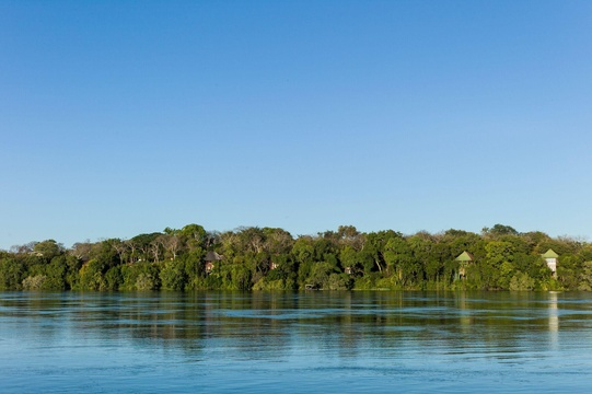 An idyllic location on the Zambezi River